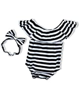 Baby Girls Clothes Black and White Stripes...
