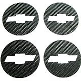 Car Styling Carbon Fiber Wheel Center Hub Caps Emblem Sticker for Chevrolet Chevy Cruze 4pcs set 2011 2012