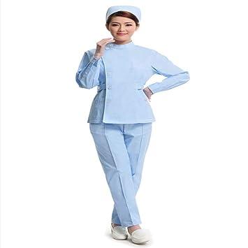 QZHE Ropa médica Ropa Médica Enfermera Uniforme Hospital ...