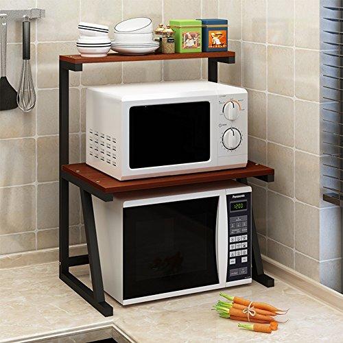 BJLWT 3 capas de almacenamiento de cocina en rack Estante de pie en la bandeja de la bandeja Microondas Horno en rack de...