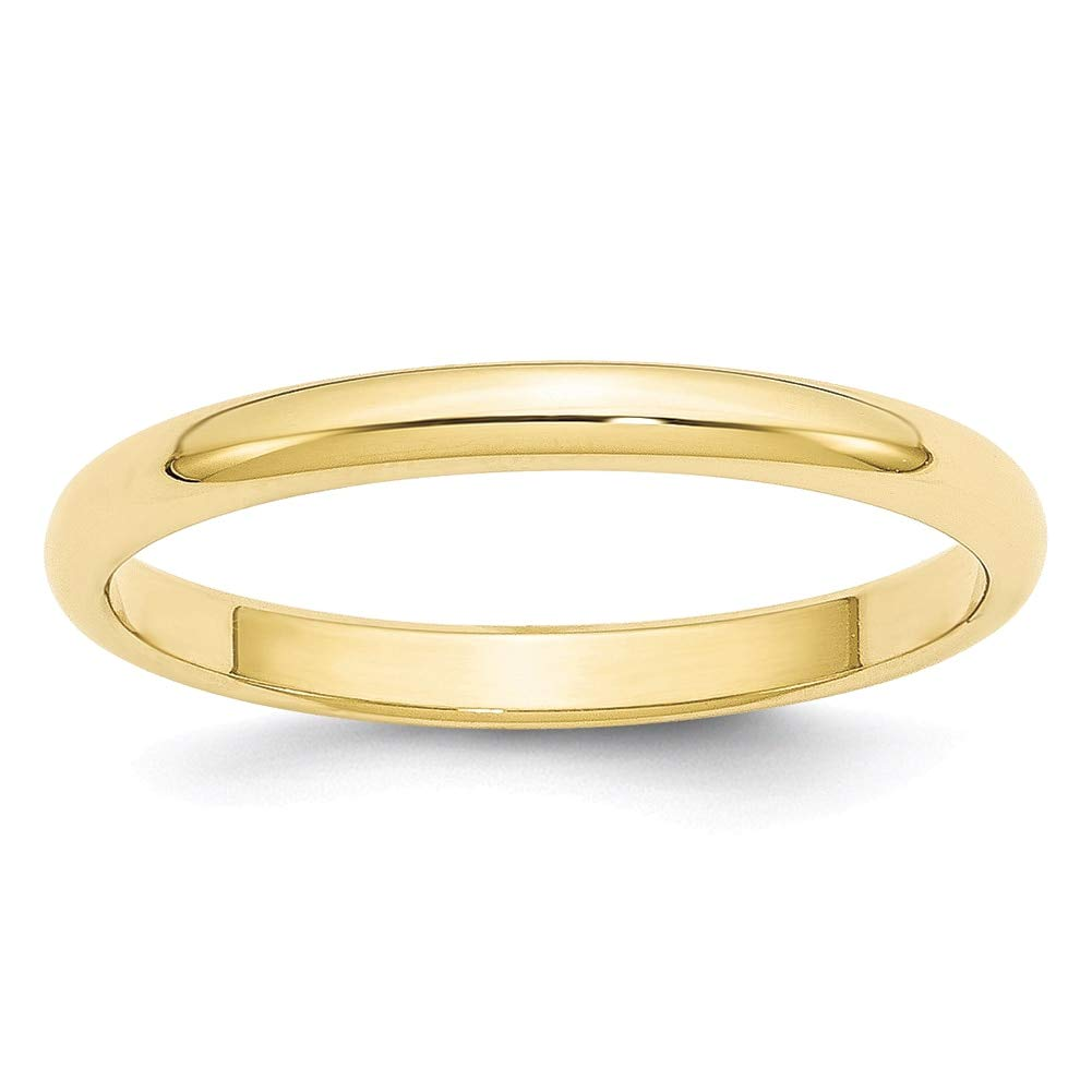 Lex /& Lu 10k Yellow Gold 2.5mm Half Round Band Ring