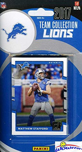 Detroit Lions 2017 Donruss NFL Football Factory Sealed Limited Edition 12 Card Complete Team Set with Mathew Stafford, Golden Tate III, Calvin Johnson & Many More! Shipped in Bubble Mailer! WOWZZER!