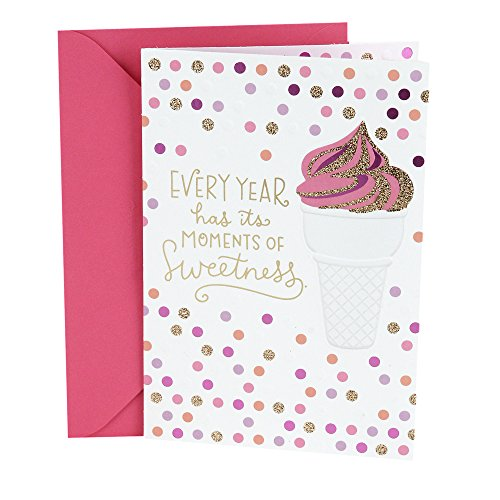 Hallmark Birthday Card for Her (Ice Cream Cone) - Girl Birthday Card