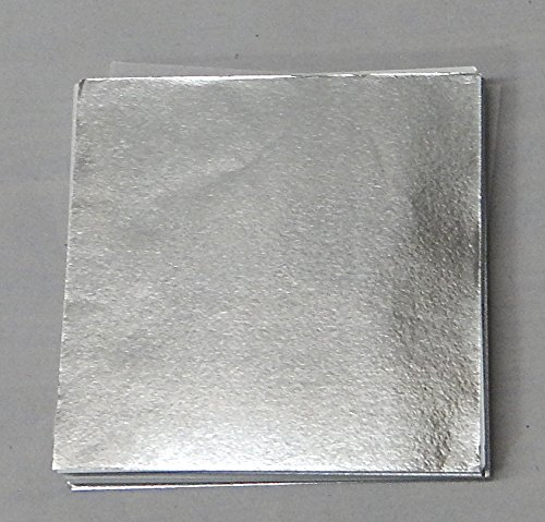 500 6'' X 6'' Silver Confectionery Foil Wrappers Candy Wrappers Candy Making Supplies by Foil Wrappers (Image #1)