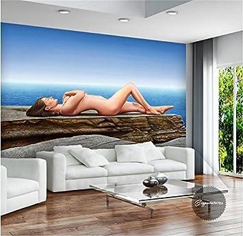 Yosot 3D Tapeten Eigenes Foto Wandbild Non Woven Meer Sexy Nude Beauty Sofa Hintergrund Wandmalerei