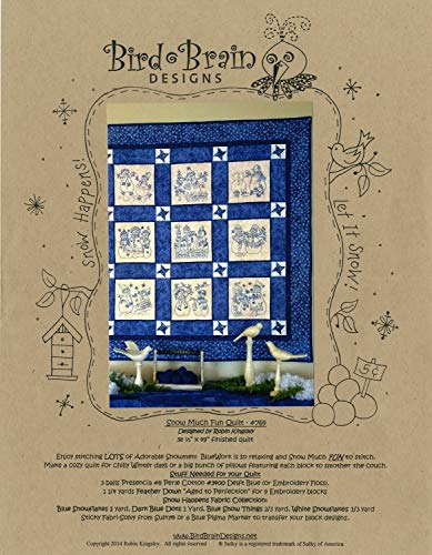 - Snow Much Fun Snowmen Quilt Embroidery Pattern by Robin Kingsley from Bird Brain Designs 769