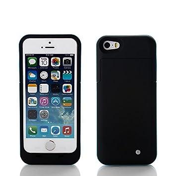 ZOGIN Funda Protectora Cargador con Batería 2200mAh Funda de Batería Externa para iPhone 5 / 5s, Color Rosa