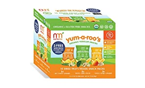 NurturMe Yum-A-Roo's Organic Toddler Snacks, Fruit & Vegetable Variety Pack, 15 Count