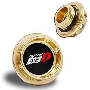 Toyota Scion Initial D Aluminum Billet Engine Oil Cap Gold Corolla Celica MR2 Yaris Prius Matrix tC xB
