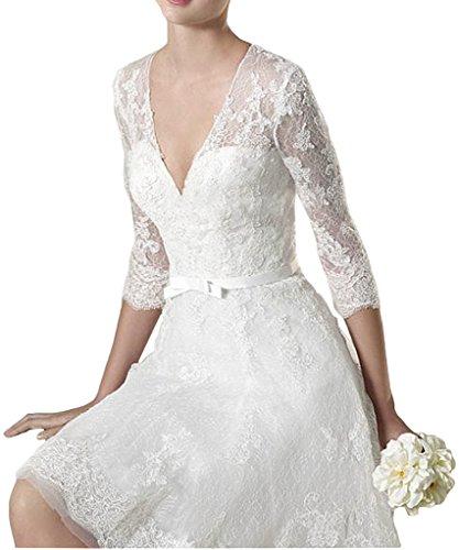ivyd ressing Mujer favorita V de recorte a de línea 3/4aermel Punta boda vestido Prom vestido fijo para vestido de noche Beige