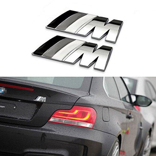 TK-KLZ 2Pcs 3D Metal Tricolor ///M Logo Car Side Fender Rear Trunk Emblem Badge for All Models BMW 1 3 5 7 Series E30 E36 E46 E34 E39 E60 E65 E38 X1 X3 X5 X6 Z3 Z4
