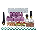 TIG Stubby Gas Lens #10 Pyrex Cup Kit DB SR WP 17 18 26 TIG Welding Torch 49pcs
