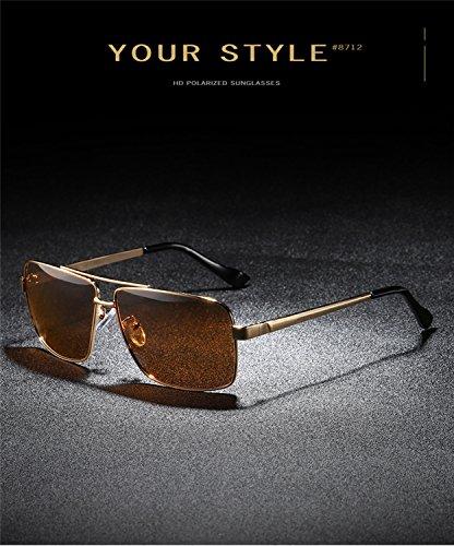 polarized T2 Aviator de de Retro de con sol marco para reflectante gafas metal protección lente tamaño hombres gafas HD mujeres las ATNKE Vintage de gran UV400 de 5q0wFZqd