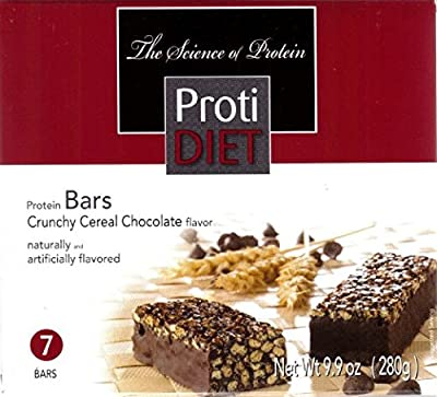 ProtiDiet Crunchy Cereal Protein Bar, Chocolate