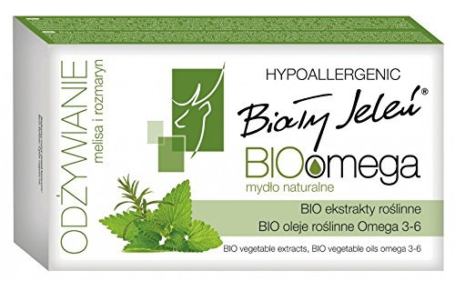 BIALY JELEN - Natural bar soap - BIOomega with melissa and rosemary - 85g