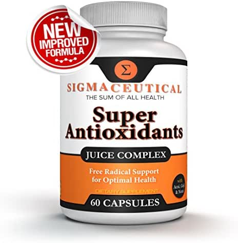 Super Antioxidant Supplement - Goji Berry Capsules, Acai Berry Capsules, Mangosteen Capsules, Resveratrol, Pomegranate & Noni Capsules - 60 Capsules