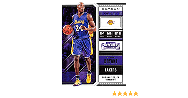 2018-19 Panini Contenders Draft Picks Season Ticket Variation #34 Kobe Bryant Los Angeles Lakers