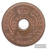 nigeria km-number. : 1 1959 Stgl./unzirkuliert Bronze mint UNC 1959 1/2 Penny Elizabeth II. (Coins for collectors)