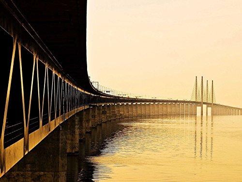 Oresundsbron Bridge Sweden Photo Art Picture Poster Print