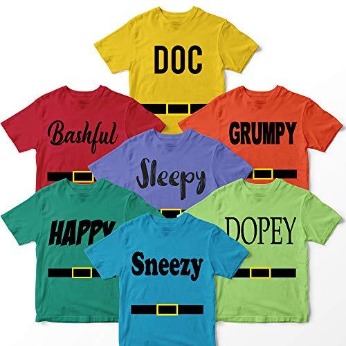 Doc Bashful Sleepy Grumpy Happy Sneezy Dopey Costume Halloween Family Matching Customized Handmade T-shirt Hoodie/Sweater / Long Sleeve/Tank Top/Premium T-shirt