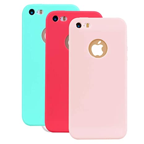 coque iphone 5 en caoutchou en rose