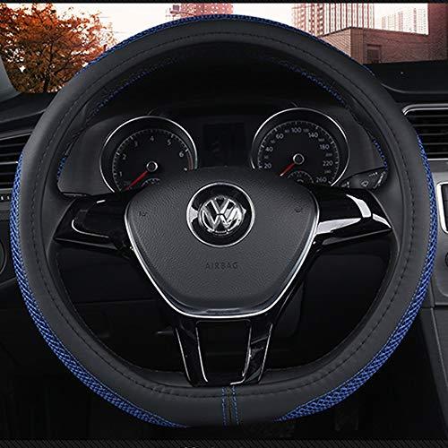 Anti-Slip Odorless DC Steering Wheel Cover Microfiber Leather Universal 15inch//38cm
