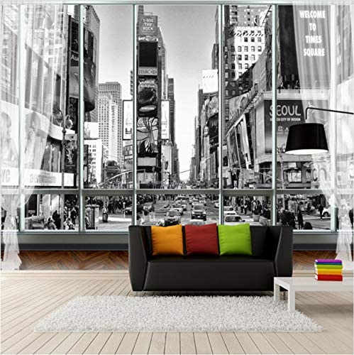 Benutzerdefinierte Tapeten Foto 3d Schwarz Weiss Wallpaper Stadt New York Street View 3d Wandbilder Fur Schlafzimmer 208cm W X146cm H Amazon De Kuche Haushalt