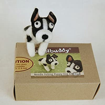 Woolbuddy Needle Felting Puppy Dog Kit: Toys & Games