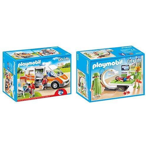 Playmobil 6685 - Krankenwagen mit Licht und Sound &  6659 - Rntgenraum