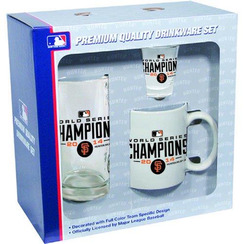 San Francisco Giants 2014 World Series Champions 3pc Fan Set Mug Glass