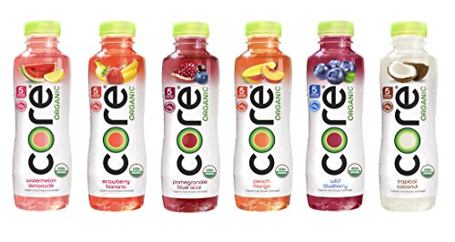 Core Organic Fruit Infused Beverage 6 Flavor Variety Pack, 18 Fl Oz, 36 Pack