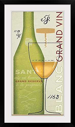 greatBIGcanvas Grand Vin Blanc by Sue Schlabach Photographic Print with Black Frame, 18