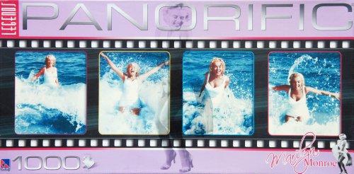 Panorific Panoramic - Legends - Marilyn Monroe Having Fun On The Beach - 1000 Piece Jigsaw Puzzle