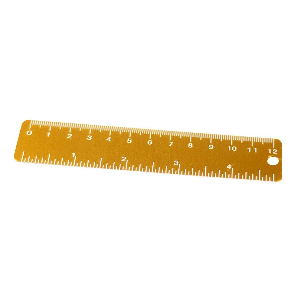 Vert Sharplace Alliage Daluminium Portable Mini R/ègle 12cm Outil Mesure Scolaire Fourniture Bureau