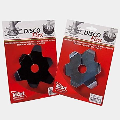Disco Flex anti Accumulo Hierba Cuchillas de alto y de bajo para ...