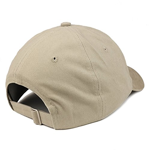 Trendy Apparel Shop Established 1943 Embroidered 75th Birthday Gift Soft Crown Cotton Cap - Khaki by Trendy Apparel Shop (Image #1)
