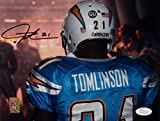 LaDainian Tomlinson Autographed Chargers 8x10 From Behind Photo- JSA W Auth