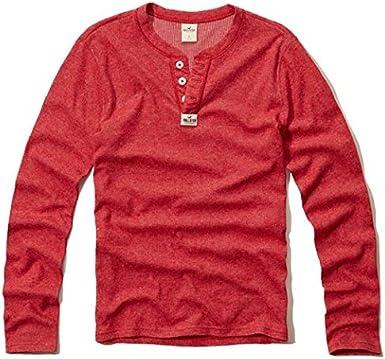 Hollister hombre Pacífico camiseta de manga larga T Shirt rojo rosso X-Large: Amazon.es: Ropa y accesorios