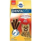 Pedigree Dentastix Beef Flavor Mini Dog Treats, 6 Ounce -- 8 per case.
