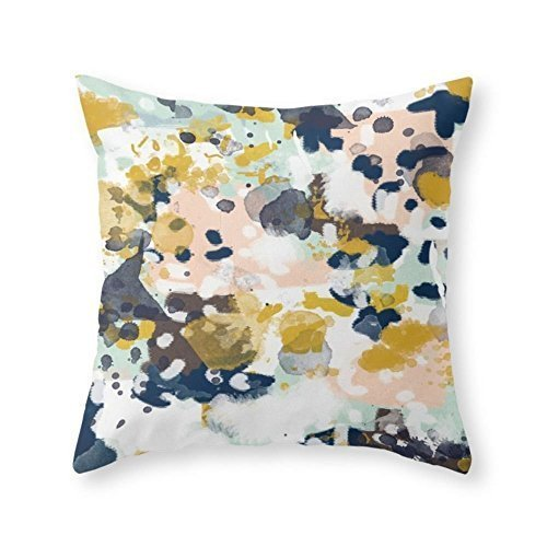 CoolDream Abstract Painting In Modern Fresh Colors Navy, Min