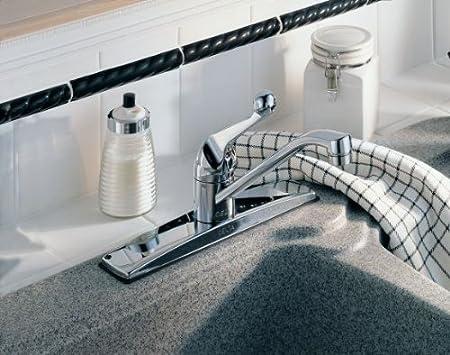 Delta Faucet 100 WF Classic  Single Handle Kitchen Faucet  Chrome   Touch  On Kitchen Sink Faucets   Amazon com. Delta Faucet 100 WF Classic  Single Handle Kitchen Faucet  Chrome