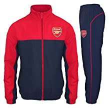 Arsenal FC Official Soccer Gift Mens Jacket & Pants Tracksuit Set Small