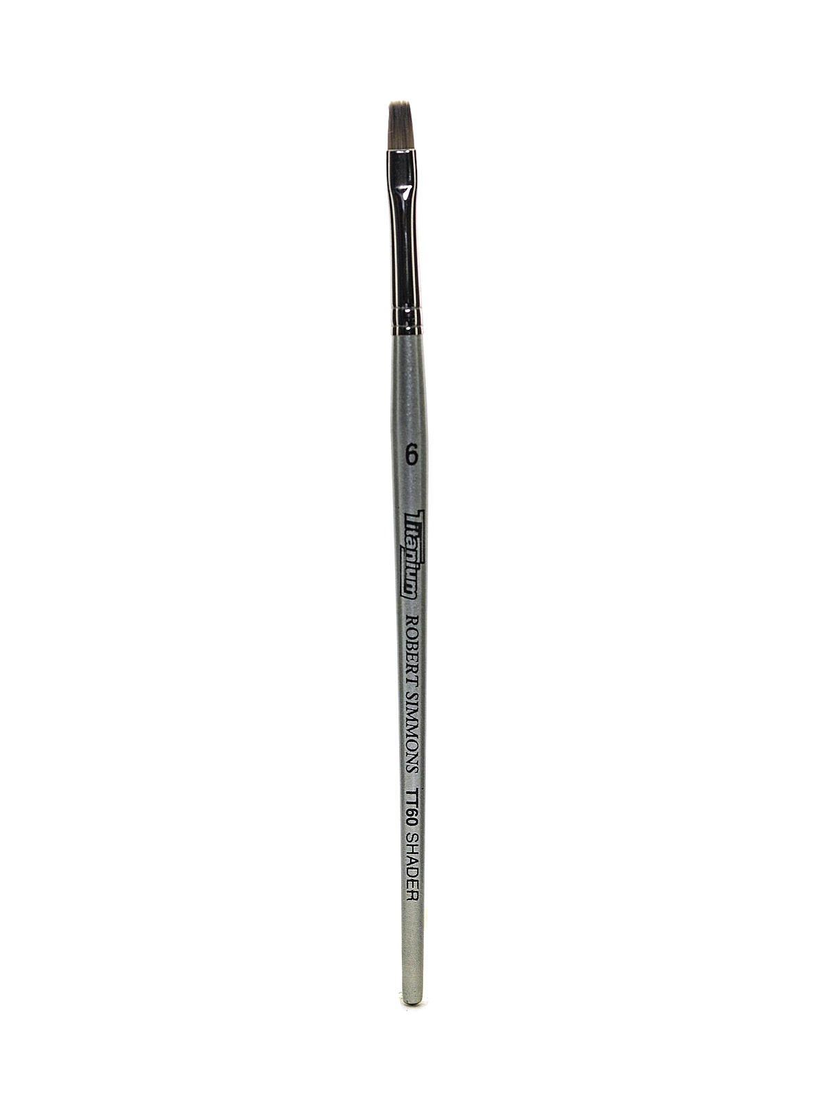 Robert Simmons Titanium Brushes Short Handle Single Stock 6 flat shader TT60 [PACK OF 2 ]
