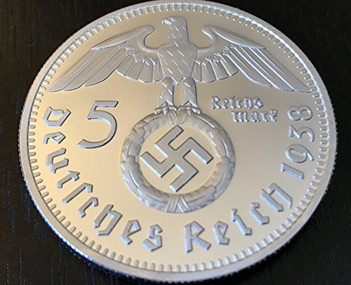 German Silver Swastika Reichsmark themacroknight product image