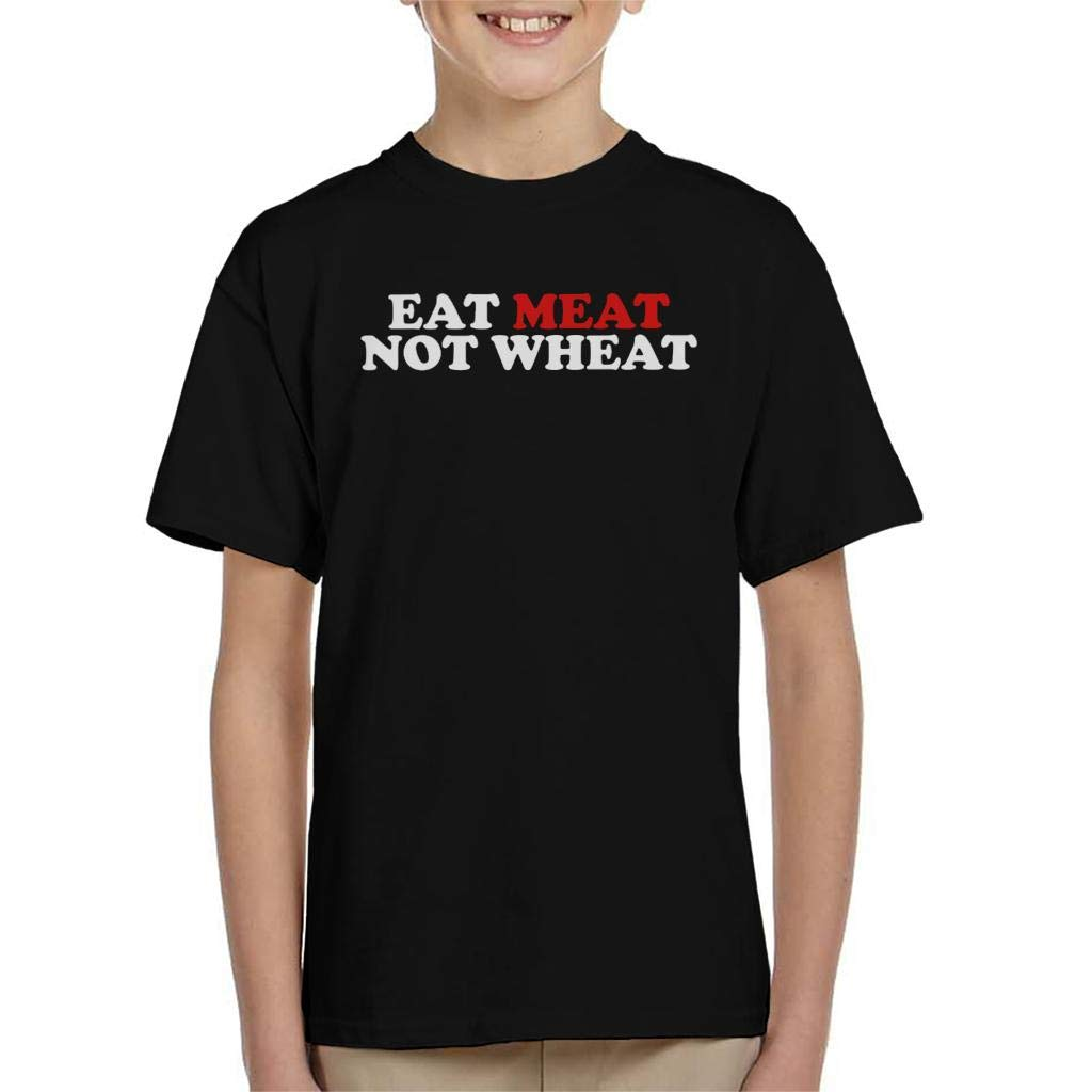 Carnivore Eat Meat Not Wheat Kids T-Shirt