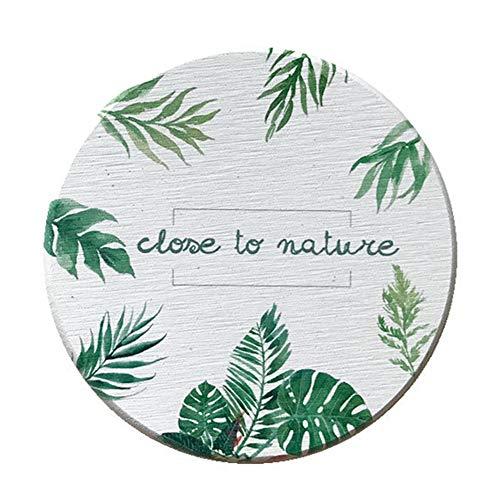 Aoruisier 1pcs Ins Diatom Mud Absorbent Coaster Environmental Plant Waterproof Round Leaves Absorbent Pad by Aoruisier (Image #8)