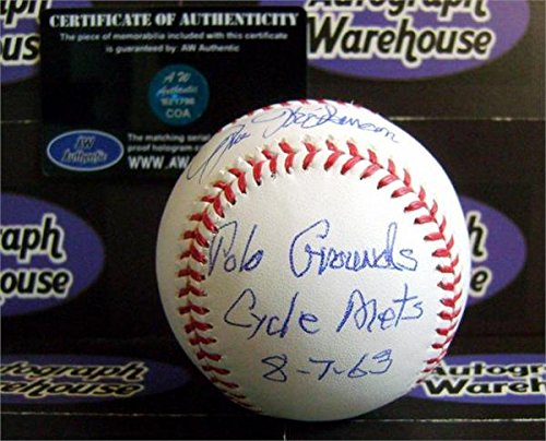 (Jim Hickman autographed baseball inscribed