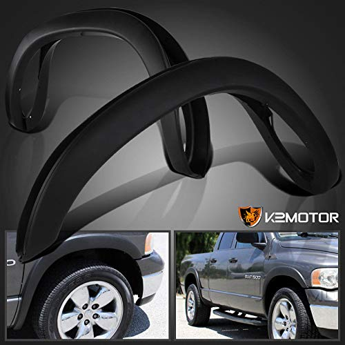 for Dodge Ram Pickup 4PC Smooth Factory Style Fender Flare Wheel Protector