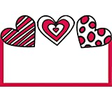 Valentines Day Love Hearts Enclosure Cards Bulk Set, Pack of 50