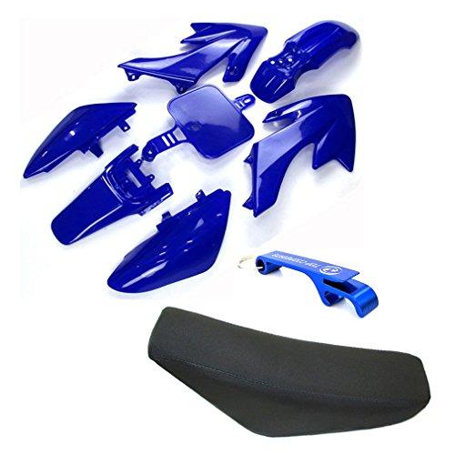 TC-Motor Plastic Fairing Body Kits + Tall Foam Seat For Honda CRF50 XR50 Pit Dirt Motor Trail Bike 50cc 70cc 90cc 110cc 125cc 140cc 150cc 160cc Chinese SSR YCF IMR Atomik Thumpstar BSE Apollo (Blue) (Plastic Body Fairing)